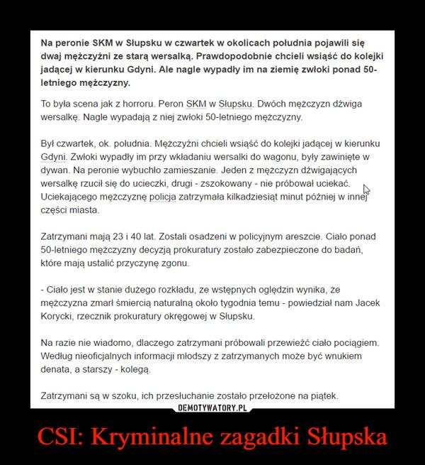 CSI: Kryminalne zagadki Słupska –