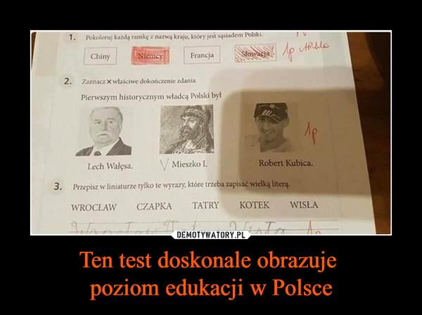 Ten test doskonale obrazuje poziom edukacji w Polsce –