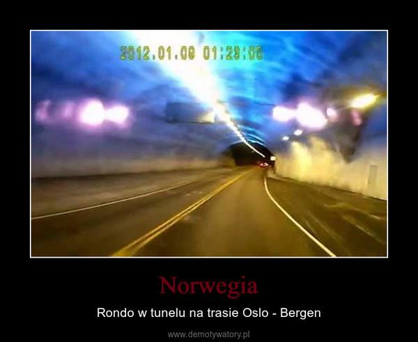 Norwegia – Rondo w tunelu na trasie Oslo - Bergen