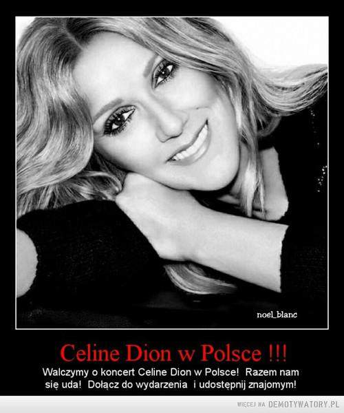 Celine Dion w Polsce
