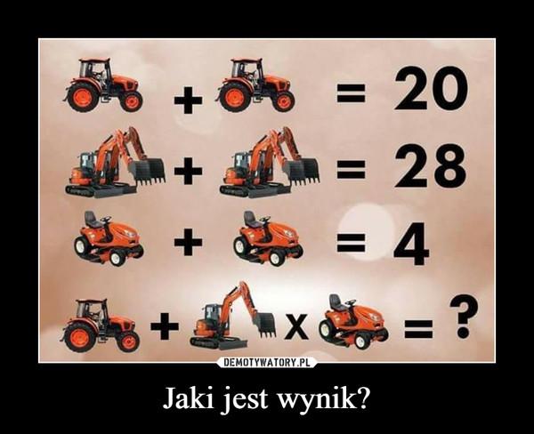 Jaki jest wynik? –