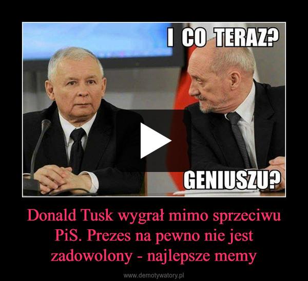 Donald Tusk wygrał mimo sprzeciwu PiS. Prezes na pewno nie jest zadowolony - najlepsze memy –