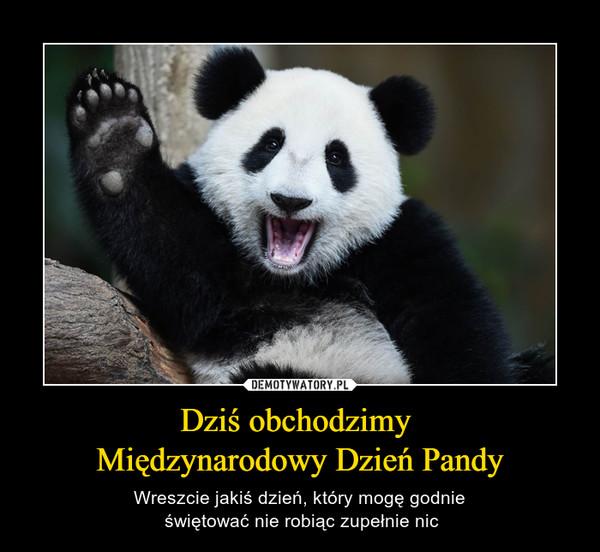 Dziś obchodzimy Międzynarodowy Dzień Pandy – Wreszcie jakiś dzień, który mogę godnie świętować nie robiąc zupełnie nic