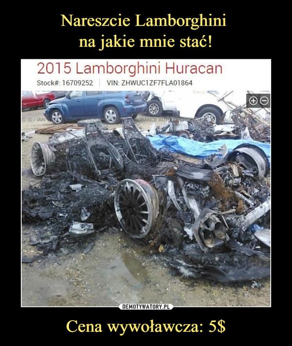 Cena wywoławcza: 5$ –  2015 Lamborghini Huracan Stock Vin