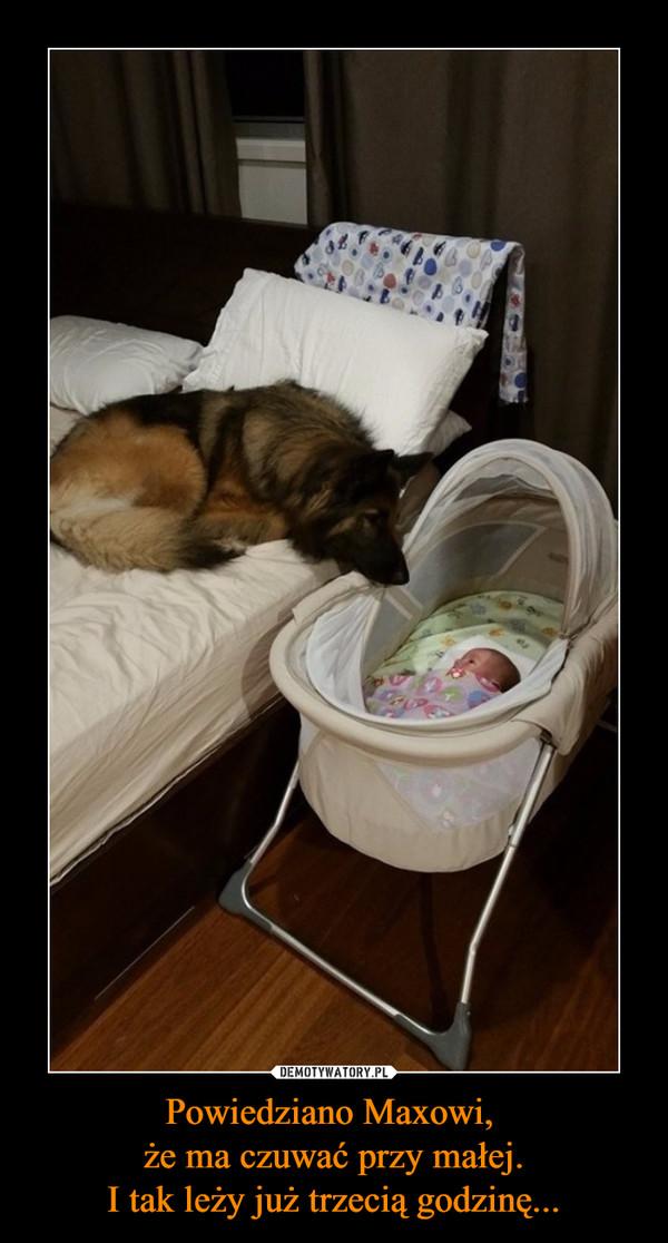 Powiedziano Maxowi, że ma czuwać przy małej.I tak leży już trzecią godzinę... –