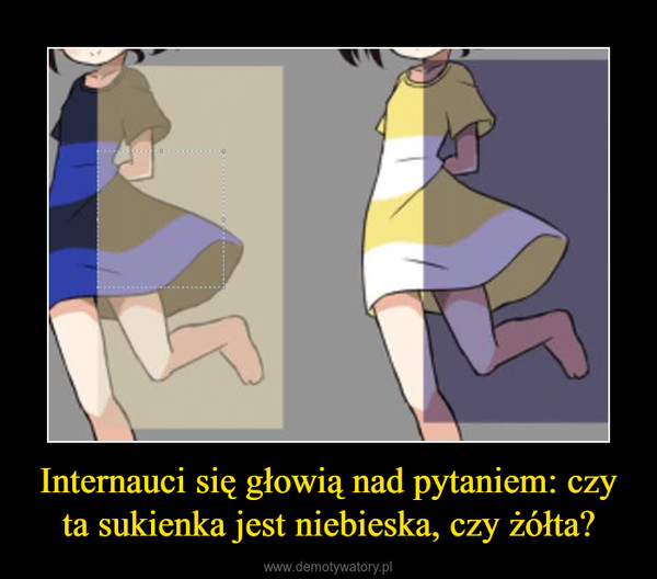 Internauci się głowią nad pytaniem: czy ta sukienka jest niebieska, czy żółta? –