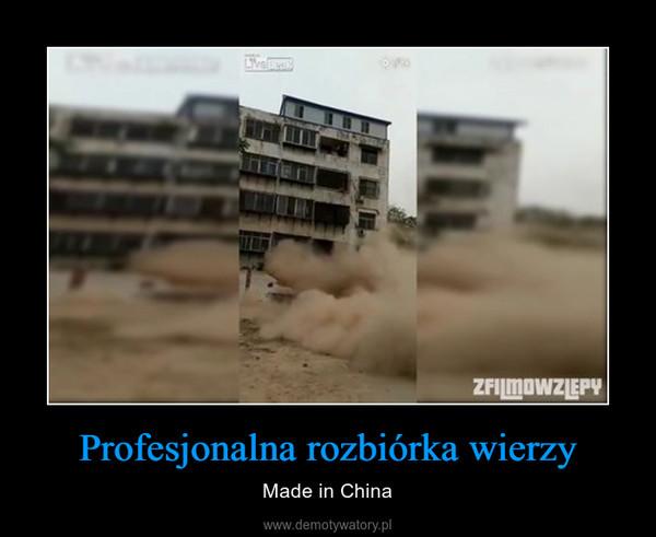 Profesjonalna rozbiórka wierzy – Made in China