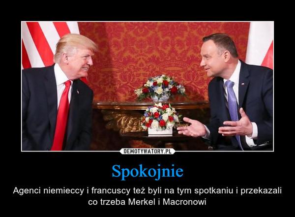 Spokojnie – Agenci niemieccy i francuscy też byli na tym spotkaniu i przekazali co trzeba Merkel i Macronowi