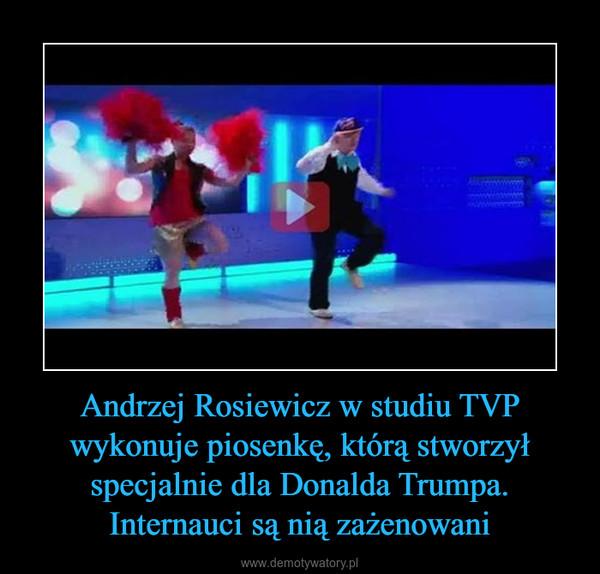 Andrzej Rosiewicz w studiu TVP wykonuje piosenkę, którą stworzył specjalnie dla Donalda Trumpa. Internauci są nią zażenowani –