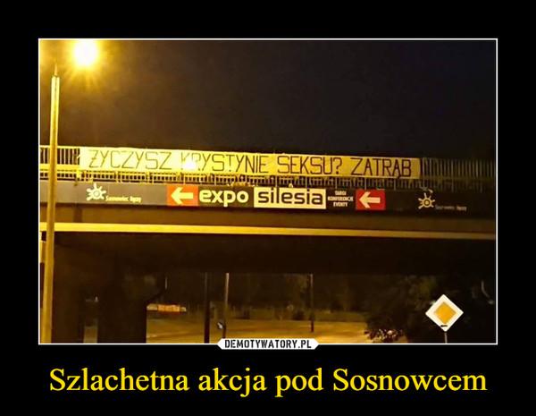 Szlachetna akcja pod Sosnowcem –