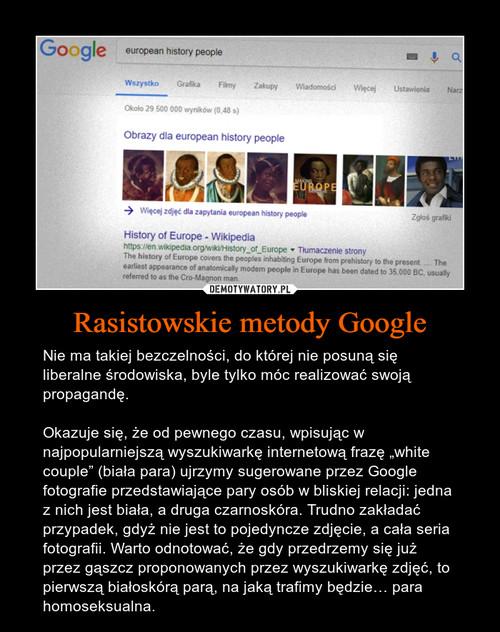Rasistowskie metody Google