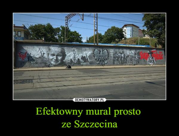 Efektowny mural prosto ze Szczecina –