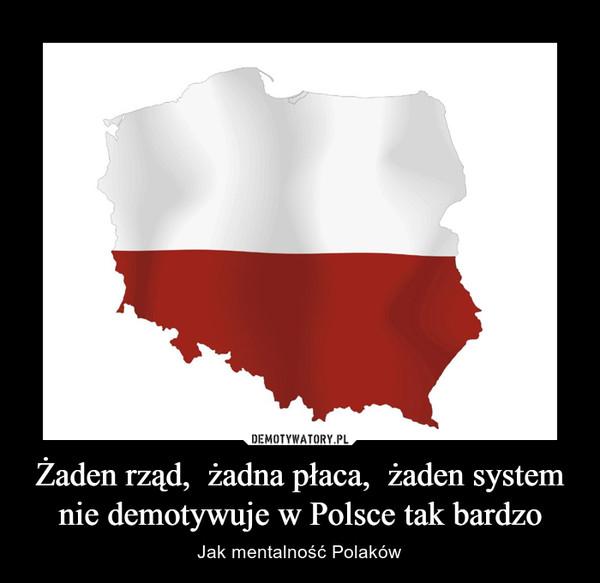 Żaden rząd,  żadna płaca,  żaden system nie demotywuje w Polsce tak bardzo – Jak mentalność Polaków