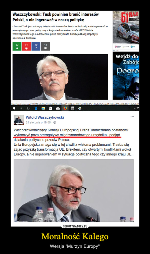 """Moralność Kalego – Wersja """"Murzyn Europy"""""""