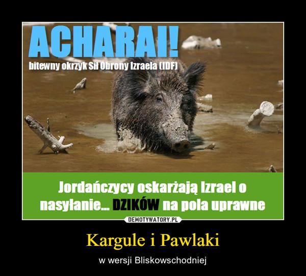 Kargule i Pawlaki – w wersji Bliskowschodniej