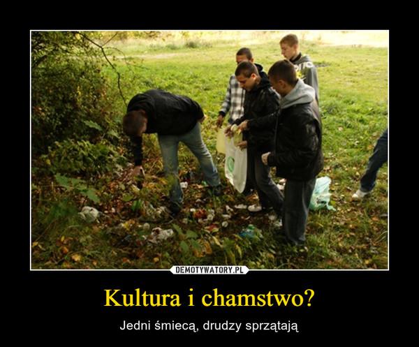 Kultura i chamstwo? – Jedni śmiecą, drudzy sprzątają
