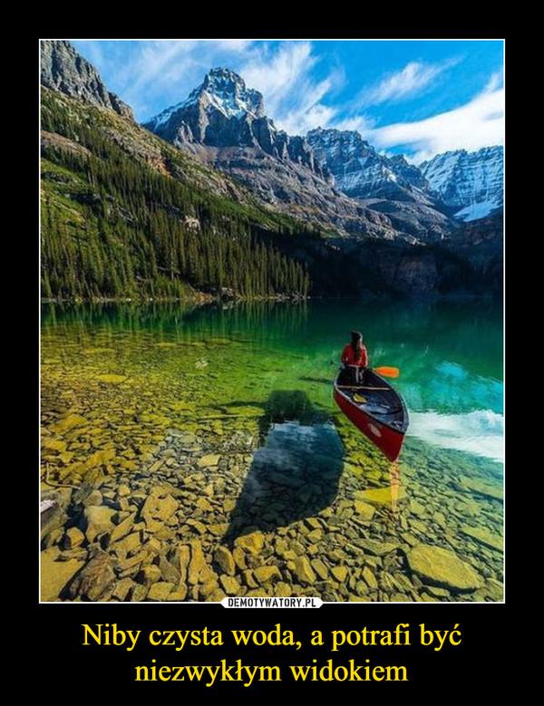 Niby czysta woda, a potrafi być niezwykłym widokiem –