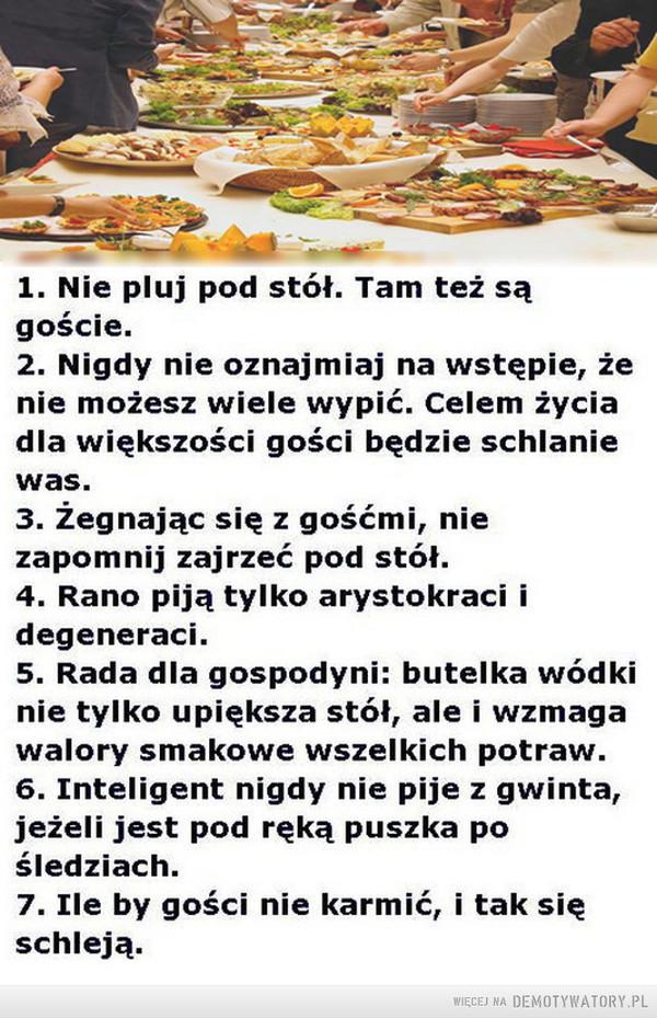 Siedem złotych zasad imprezowania –