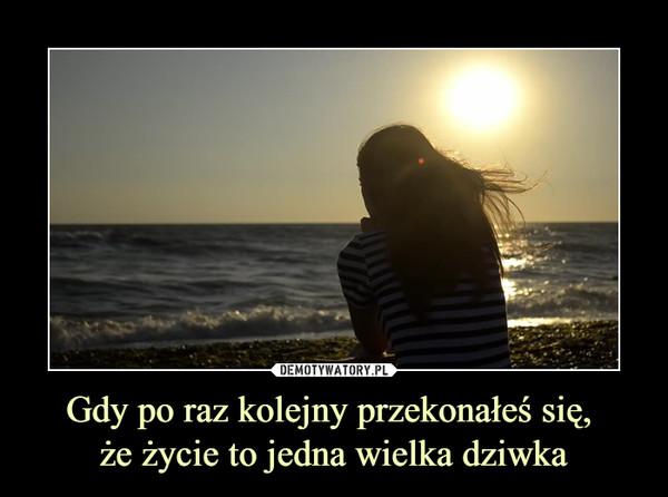 Gdy po raz kolejny przekonałeś się, że życie to jedna wielka dziwka –