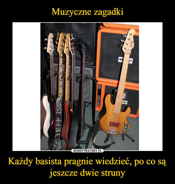 Każdy basista pragnie wiedzieć, po co są jeszcze dwie struny –
