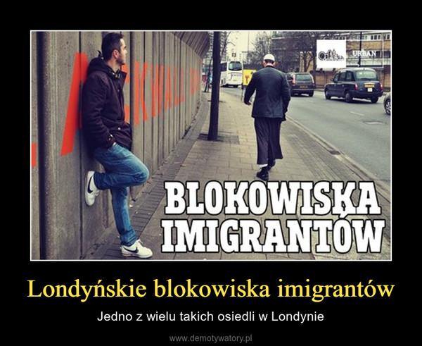 Londyńskie blokowiska imigrantów – Jedno z wielu takich osiedli w Londynie