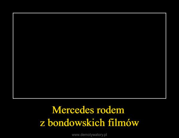 Mercedes rodem z bondowskich filmów –