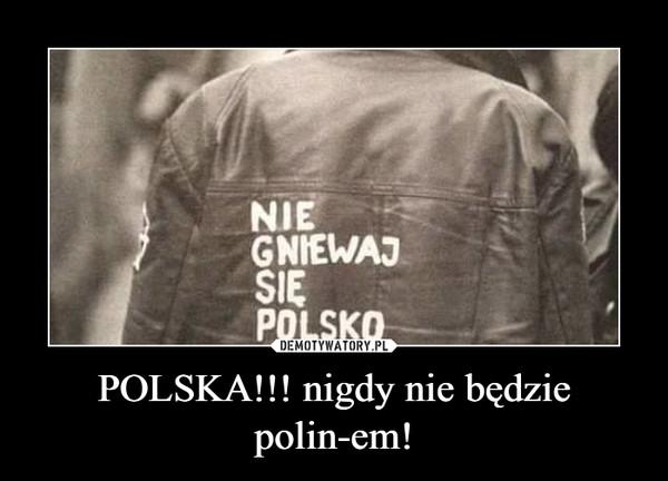 POLSKA!!! nigdy nie będzie polin-em! –