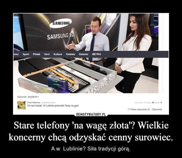Stare telefony 'na wagę złota'? Wielkie koncerny chcą odzyskać cenny surowiec. – A w  Lublinie? Siła tradycji górą.