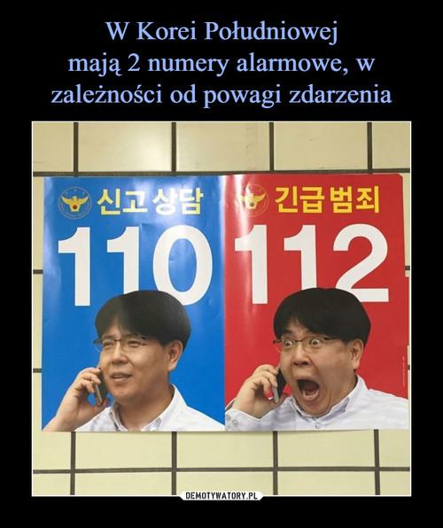 W Korei Południowej mają 2 numery alarmowe, w zależności od powagi zdarzenia