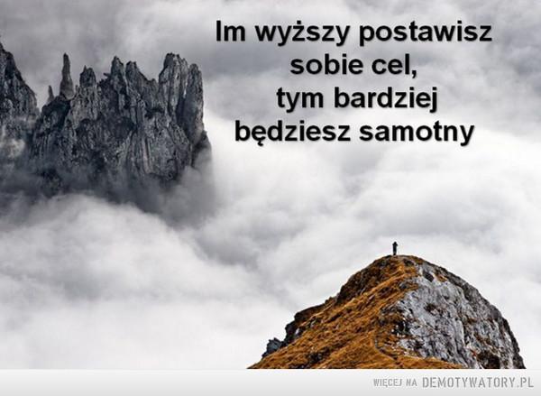 Samotność... –