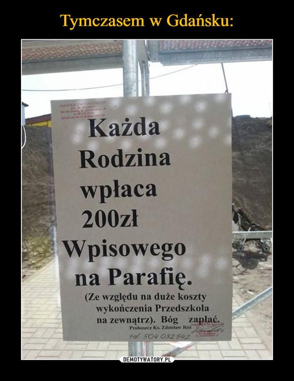 –  Każda rodzina wpłaca 200 zł wpisowego na Parafię (Ze względu na duże koszty wykończenia Przedszkola na zewnątrz) Bóg zapłać