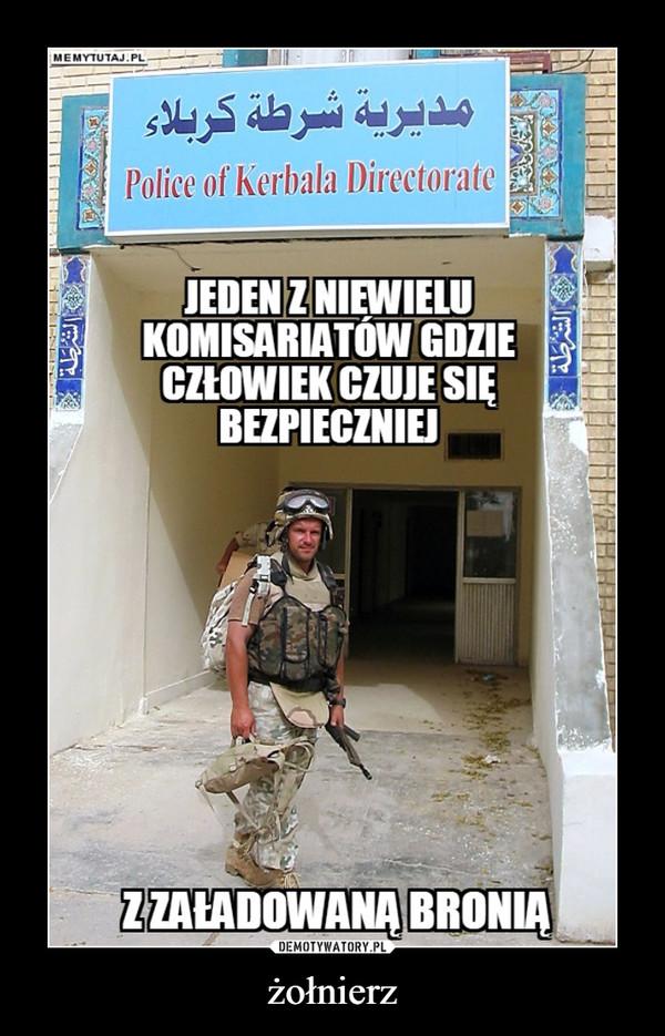 żołnierz –