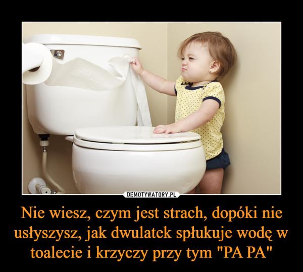 """Nie wiesz, czym jest strach, dopóki nie usłyszysz, jak dwulatek spłukuje wodę w toalecie i krzyczy przy tym """"PA PA"""" –"""