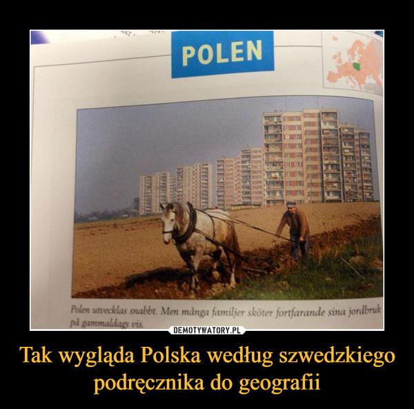 Tak wygląda Polska według szwedzkiego podręcznika do geografii –