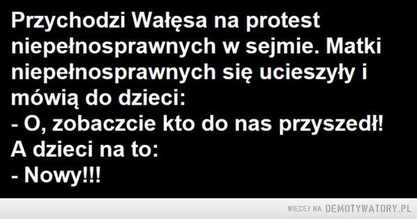 Protest niepełnosprawnych –