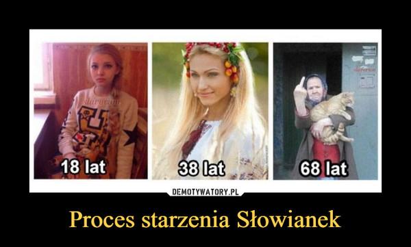 Proces starzenia Słowianek –  18 lat 38 68
