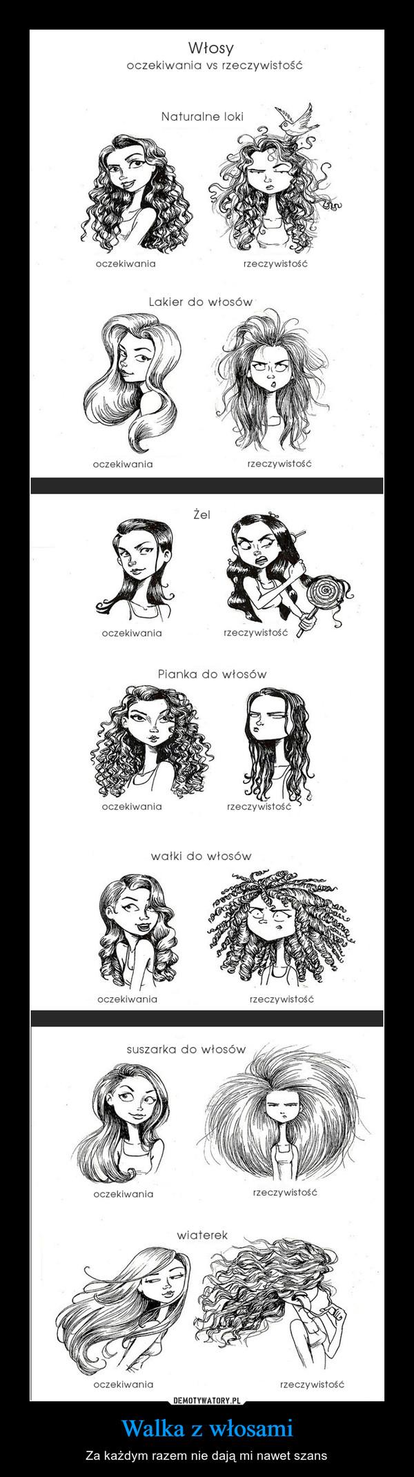 Walka z włosami – Za każdym razem nie dają mi nawet szans włosy oczekiwania vs. rzeczywistość