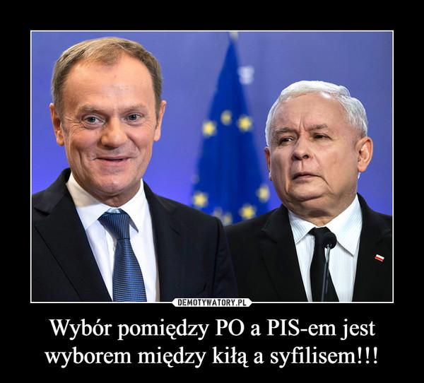Wybór pomiędzy PO a PIS-em jest wyborem między kiłą a syfilisem!!! –