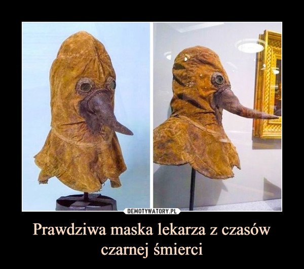 Prawdziwa maska lekarza z czasówczarnej śmierci –