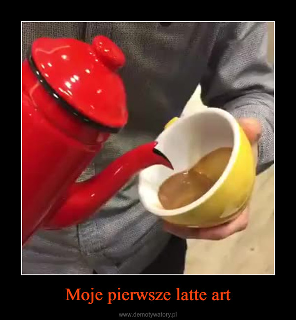 Moje pierwsze latte art –