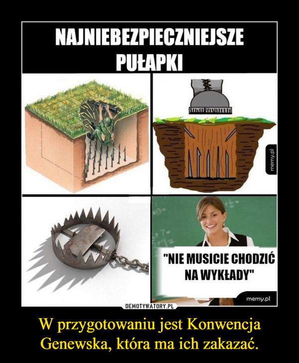 W przygotowaniu jest Konwencja Genewska, która ma ich zakazać. –