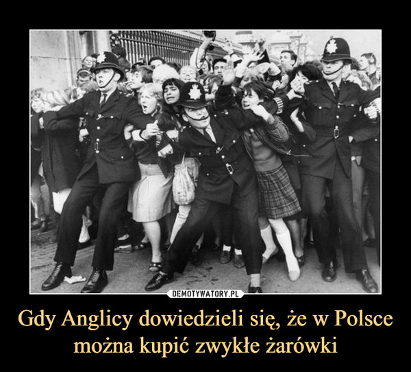 Gdy Anglicy dowiedzieli się, że w Polsce można kupić zwykłe żarówki –