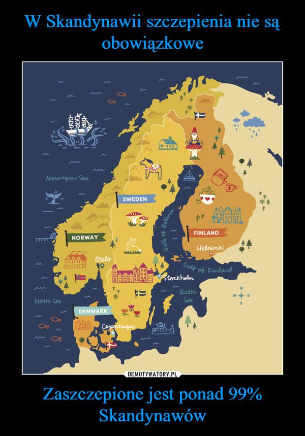 Zaszczepione jest ponad 99% Skandynawów –