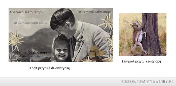 Adolf przytula, gepard też przytula... – Kim trzeba być, aby łykać taką propagandę.