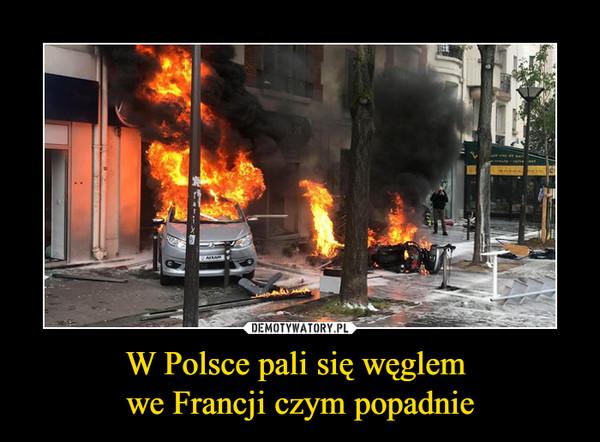 W Polsce pali się węglem we Francji czym popadnie –