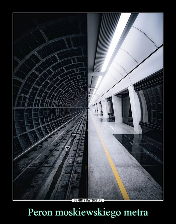 Peron moskiewskiego metra –