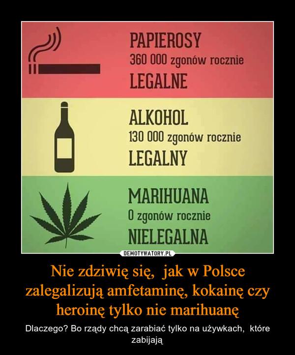Nie zdziwię się,  jak w Polsce zalegalizują amfetaminę, kokainę czy heroinę tylko nie marihuanę – Dlaczego? Bo rządy chcą zarabiać tylko na używkach,  które zabijają