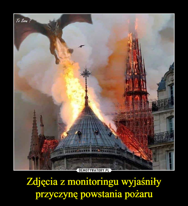 Zdjęcia z monitoringu wyjaśniły przyczynę powstania pożaru –