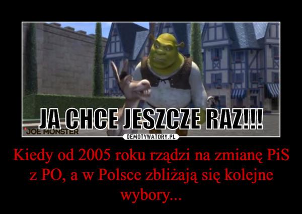 Kiedy od 2005 roku rządzi na zmianę PiS z PO, a w Polsce zbliżają się kolejne wybory... –