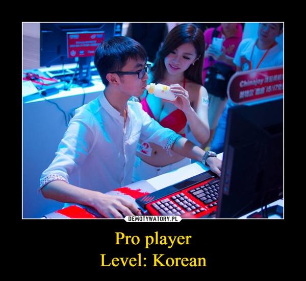 Pro playerLevel: Korean –
